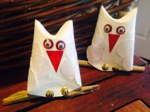 Snowy owl ornaments